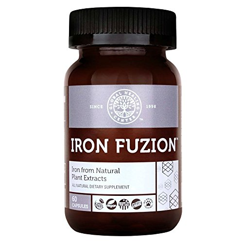 Global Healing Center Iron Fuzion Supplement from Natural Plant Extracts with Blend of Organic Thyme & Echinacea for Better, Faster Absorption - 60 Day Supply (60 Capsules)