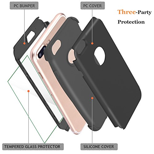 DUDETOP iPhone 8 Case, iPhone 7 Case, 4.7-Inch, Heavy Duty [Built-in Screen Protector] Tough 3 in1 R - http://coolthings.us