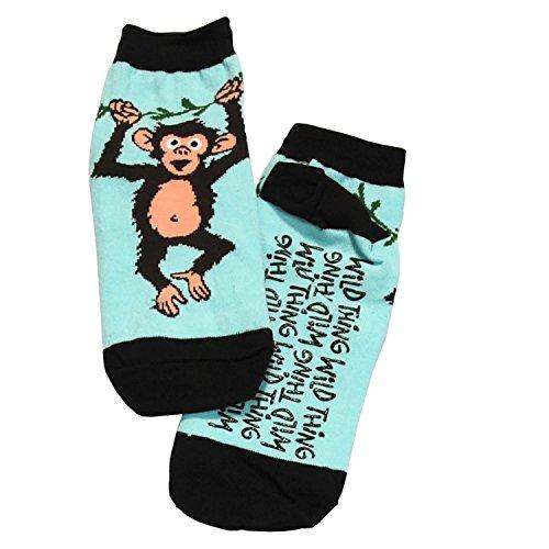 LazyOne Unisex Wild Thing Monkey Erwachsenen Slipper Socks9-11