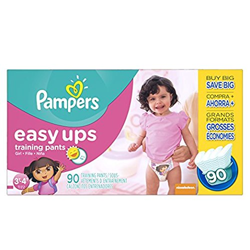 Pampers Easy Ups Training Pants Pull On Disposable Diapers for Girls Size product image