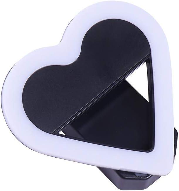 Color : D-Black DFYYQ Mini Creative LED Fill Light for Phone Multi-Shape Battery Powered Beauty Light Outdoor Selfie Light Flashes