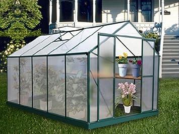 Viva Green - Serre jardin polycarbonate Dahlia Vert Sapin 9 m2 ...