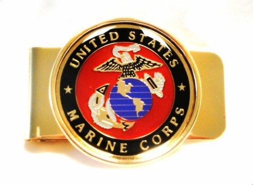 USMC (Marine Corps) Metal Money Clip Cardholder