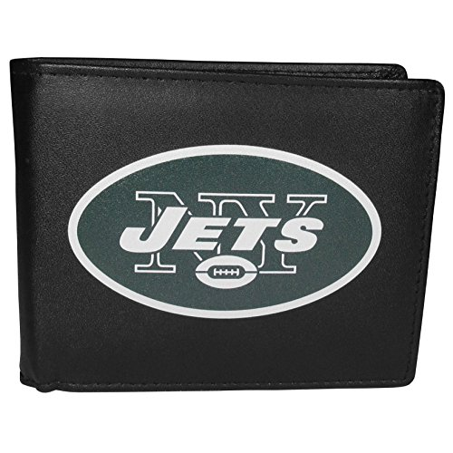 Siskiyou NFL New York Jets Bi-Fold Wallet Logo, Large, Black