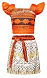 AmzBarley Moana Costume Girl Dress Up Clothes Set Princess Skirt Party Halloween Cosplay