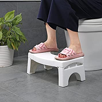 PARASNATH Prime Folding Squat Stool (White)