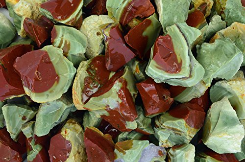 Fantasia Materials: 2 lbs Watermelon Jasper Rough Stones from Mexico - Raw Natural Rocks for Cabbing, Cutting, Lapidary, Tumbling, Polishing, Wire Wrapping, Wicca & Reiki Healing