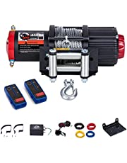 OPENROAD 4500 Lb UTV/ATV Winch with Cable,12V Electric Winch with 49ft Cable,Towing Winch Come with Wireless Remote Control, Winch Recovery Kit for Trailer and Boat