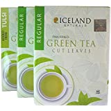 ICELAND NATURALS Loose Leaf Tulsi 100% Natural Detox Weight Loss Cleansing Slimming Fresh Harvest Mellow Powerful Anti-Oxidant Tea, 100g (Pack of 3)