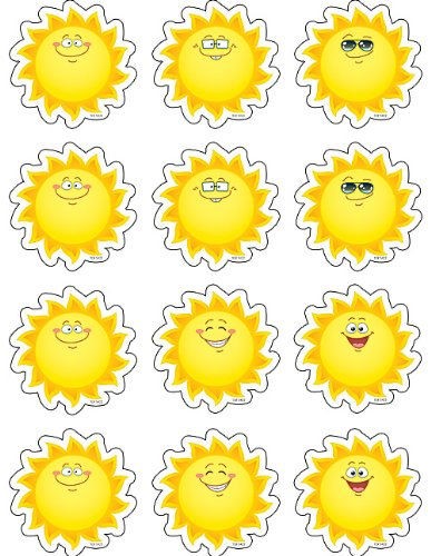 Teacher Created Resources Happy Suns Mini Accents (5422)