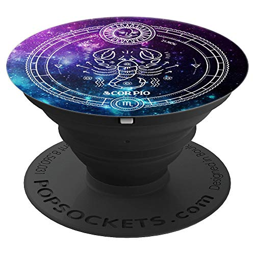 (Scorpio Zodiac Sign Birthday Horoscope Space Star Galaxy Art - PopSockets Grip and Stand for Phones and Tablets)