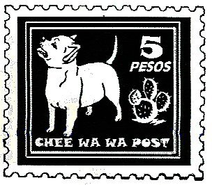 Dog Rubber Stamps - Chihuahua-7D Size: 1-1/2