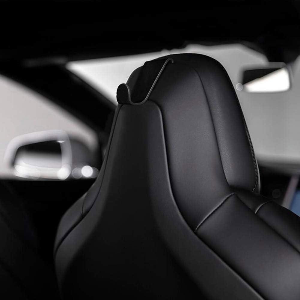 Semoic Vehicle Seat Coat Bag Holder Hooks,Seat Headrest Back Hook,Bag Holder Clothes Hangers Designed For Tesla Model S Model X- Set Of 2