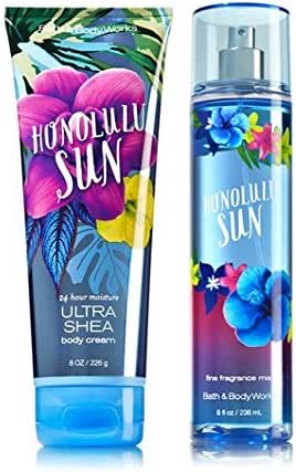 Bath & Body Works Signature Collection HONOLULU SUN Gift Set Ultra Shea Body Cream & Fine Fragrance Mist