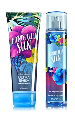 Bath Papaya Nectar - Bath & Body Works Signature Collection HONOLULU SUN Gift Set Ultra Shea Body Cream & Fine Fragrance Mist