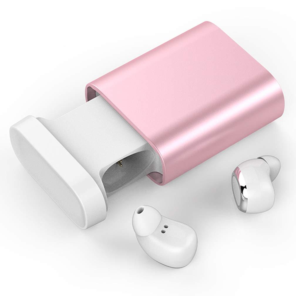 独創的 Muzi スポーツ Bluetoothヘッドセット 充電ビン付き 真のワイヤレス B07H719M9V スポーツ 154-039 インイヤーステレオ デュアルイヤホン, ピンク, 154-039 ピンク B07H719M9V, 引越資材プロショップ:b429b414 --- nicolasalvioli.com