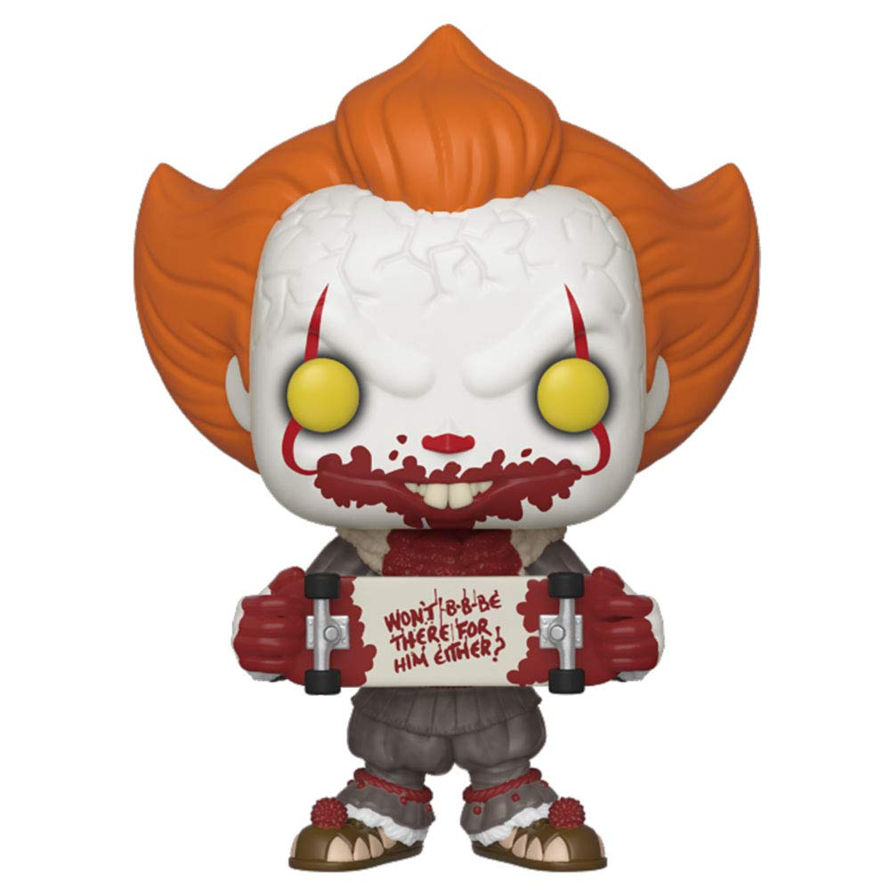 Funko- Pop Vinyl: Movies: It: Chapter 2-Pennywise W//Skateboard Figurine de Collection 40628 Multicolore