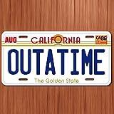 Back To The Future Movie License Plate California OUTATIME Delorean Replica Tag