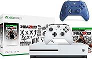 Microsoft Xbox One S 1TB NBA 2K19 Bundle + Sport Blue Special Edition Wireless Controller | Include:Xbox One S