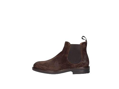 FRAU 73B3 marrón Pimienta Zapatos Hombres Botines Beatles Gamuza elástica: Amazon.es: Zapatos y complementos