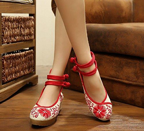 Lazutom , Sandales pour femme Rouge Red Taille unique
