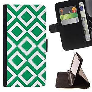 For HTC One M9 Case , Teja irlandesa modelo del art Blanca- la tarjeta de Crédito Slots PU Funda de cuero Monedero caso cubierta de piel