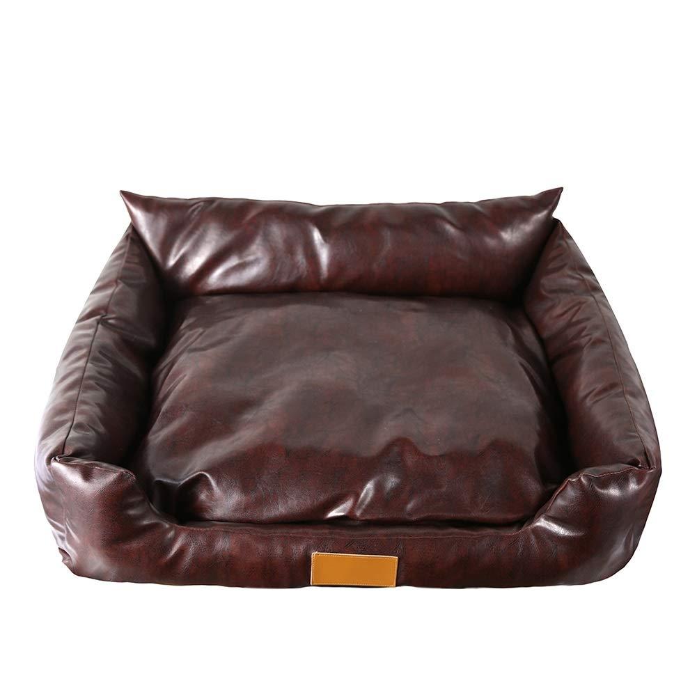 504022cm YSNBM Pet Bed Leather Mattress Pet Bed Sofa Cushion Dog Cat Pad Detachable Sepia Comfortable, Luxurious, Warm (Size   50  40  22cm)