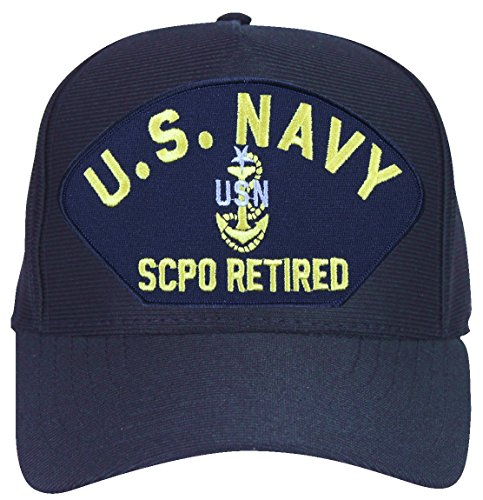 MilitaryBest U.S. Navy SCPO Retired with Anchor Ball Cap