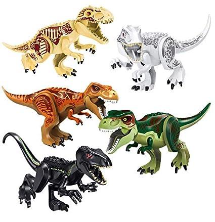12PCS Dinosaurio Figuras Play Bloques De Construcción Juguetes De Construcción Compatible Set..
