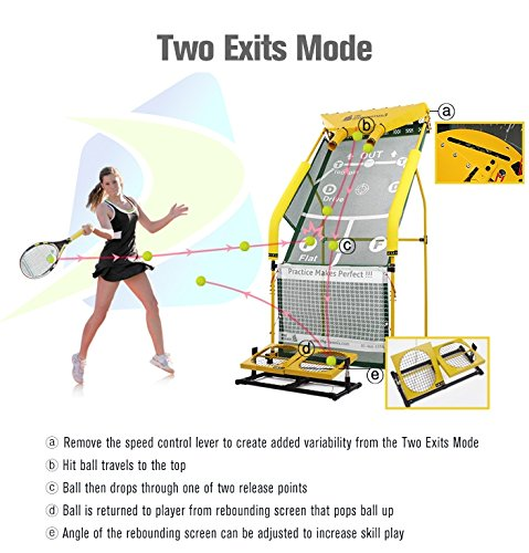 The Tennis Partner 3 - Tennis Rebounder Tennis Partner Machine Tennis Ball Machine Tennis Trainer Newest Version