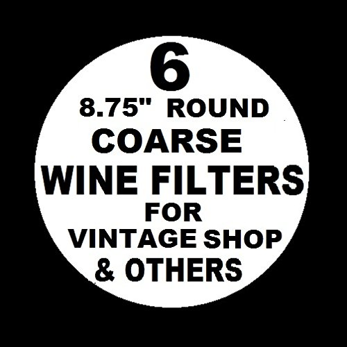 "6 WINE FILTER PADS COARSE 8.75"" ROUND for Vintage Shop, Vinamat and other plate, air pressure, and electric wine filter frames"