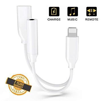 Adaptador de Conector Para Auriculares Para iPhone 7 Accesorios de Conector Audio AUX + llamada + Adaptador de Carga para iPhone X/8/XS Cable Divisor ...