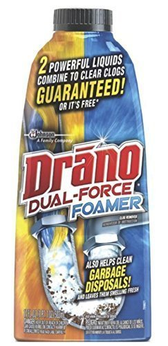 Drano Dual Force Foamer Clog Remover, 17 oz-2 pk