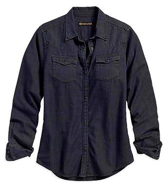 3146b6da5df Harley-Davidson Women s Studded Yoke Long Sleeve Shirt
