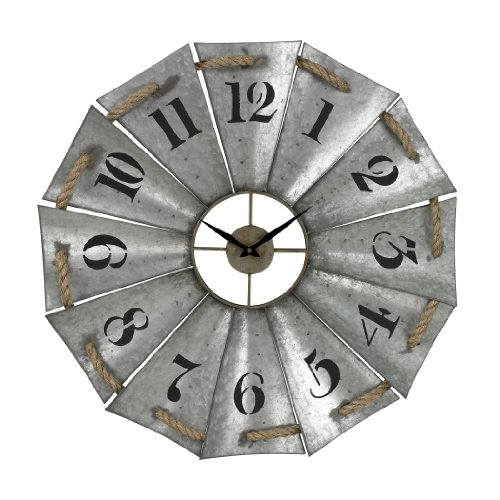 Sterling Industries Aluminum and Rope Wall Clock, 29
