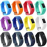 TECKMICO 12PCS Garmin Vivofit JR/JR.2 bands,Replacement bands for Garmin Vivofit JR/Garmin Vivofit JR.2 for kids (12-Pack, Buckle Design)