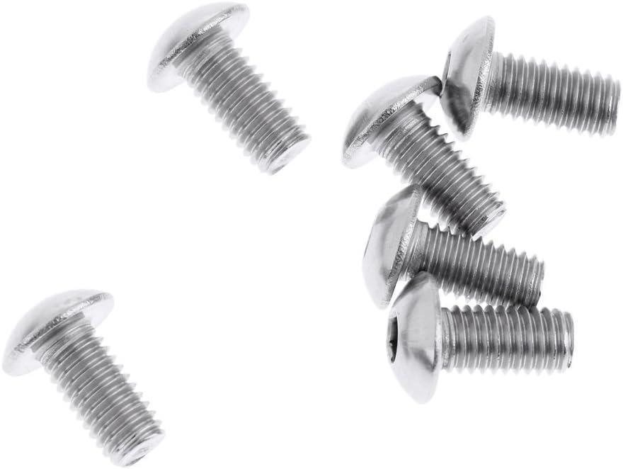 SGerste 6/pcs en acier Bike Frein /à disque Rotor Boulons Vis M5/x 10/mm pour v/élo VTT