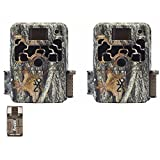 Browning Trail Cameras Two Dark Ops Extreme 16MP Game Cameras and Focus USB Card Reader