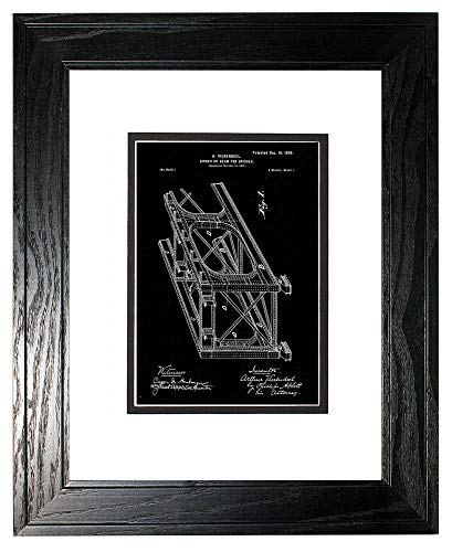 Girder or Beam for Bridges Patent Art Black Matte Print in a Black Pine Wood Frame with a Double Mat (13