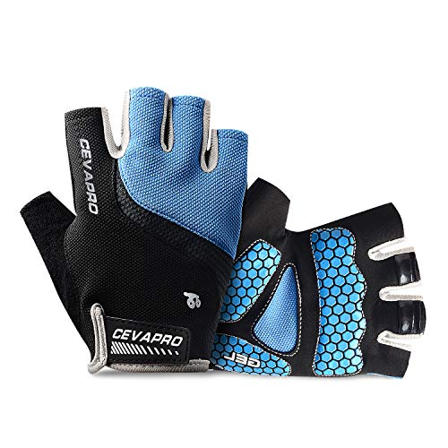 Cevapro Cycle Gloves Mountain Road Bike Gloves Half Finger Bicycle