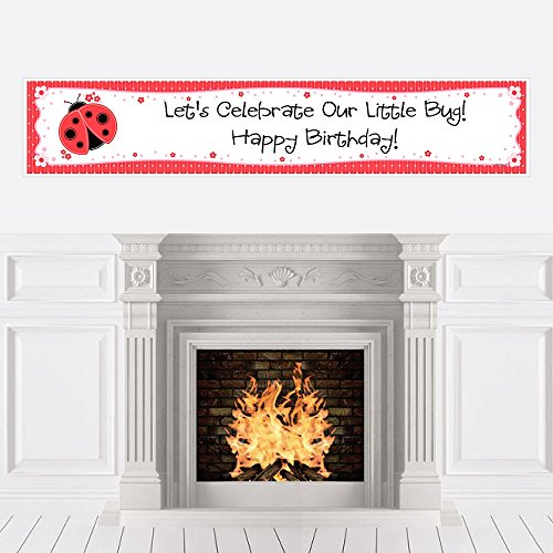 Big Dot of Happiness Modern Ladybug - Birthday Party Decorations Party Banner