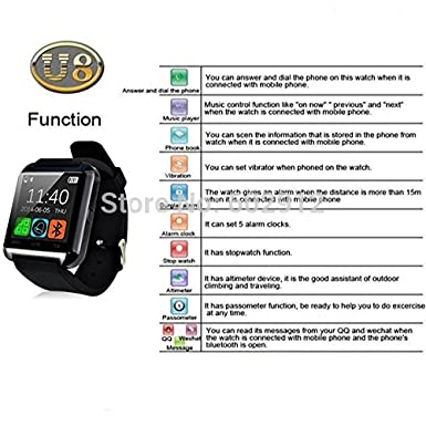 Amazon.com: Bluetooth Smart Watch Intelligent Wrist Watch Relojes Inteligente for Andriod Phones (black): Cell Phones & Accessories