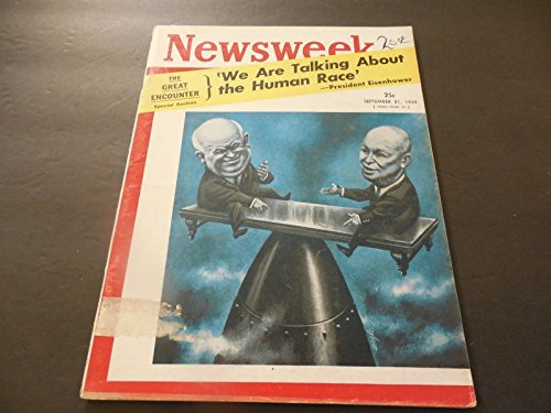 Adult Chat Playboy (Newsweek Sept 21 1959 Ike Khrushchev Chat; Russians Shoot Missile At The)