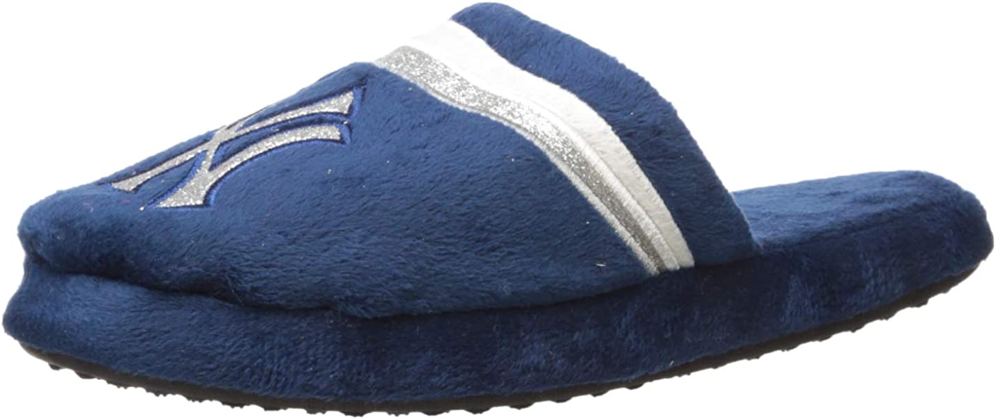 FOCO MLB Unisex Glitter Stripe Slide Slipper