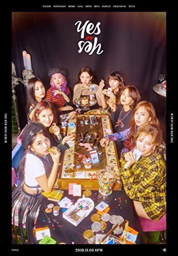 TWICE [YES or YES] 6th Mini Album A-BLACK CD+POSTER+PhotoBook+5p PhotoCard+1p Yes or Yes Card+Tracking Number K-POP SEALED