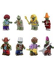 8 st växter vs zombies action mini figurer byggsten barn leksak gåva set, som barn födelsedagspresent