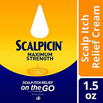 Scalpicin Max Strength Scalp Itch Treatment – Helps Relieve Scalp Itch from Dandruff, Psoriasis, Seborrheic Dermatitis, and Eczema. Formulated with Salicylic Acid 1.5 Ounce Pack of 5