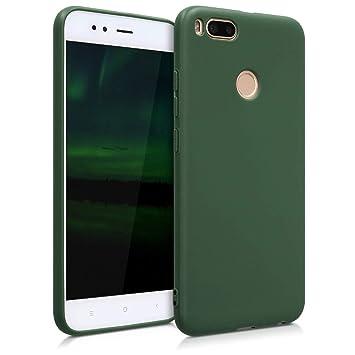kwmobile Funda para Xiaomi Mi 5X / Mi A1 - Carcasa para móvil en [TPU Silicona] - Protector [Trasero] en [Verde Oscuro Mate]