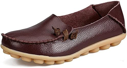 LabatoStyle Women's Casual Leather Loafers Driving Moccasins Flats Shoes