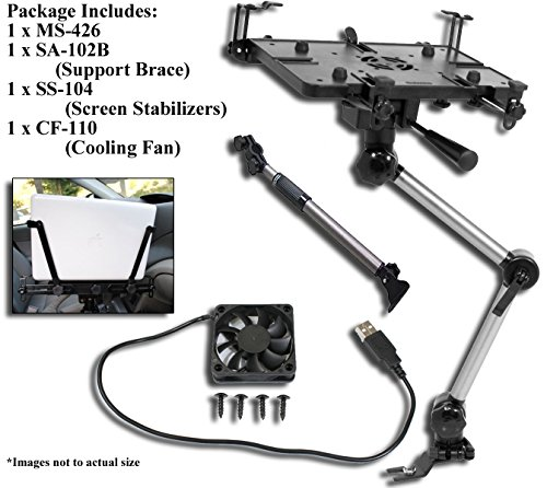 Mobotron MS-426-B Vehicle Laptop Mount Plus Screen Stabilizer Plus Cooling Fan Plus Supporting - Stands Cars Laptop For